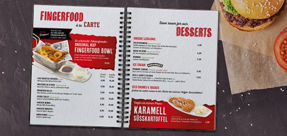Grafik für Speisekarte