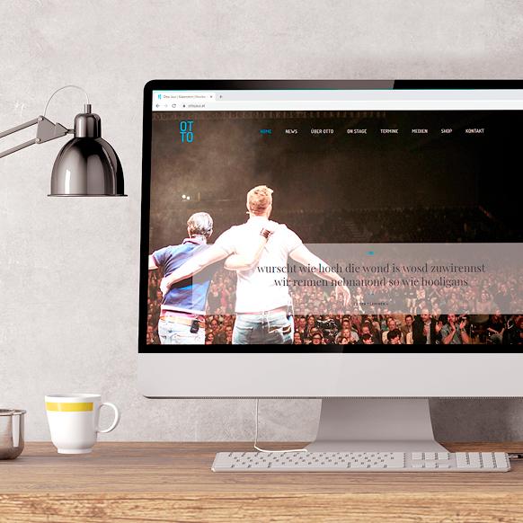 Webdesing und Webentwicklung. Programmierung von Künstler Webseiten.