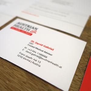 Business Visitenkarten für Austrian Health