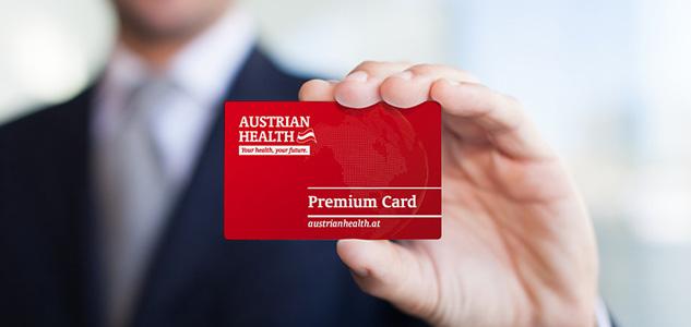 Design der Premium Card für Austrian Health