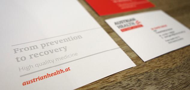 Relaunch der Geschäftspapiere für Austrian Health