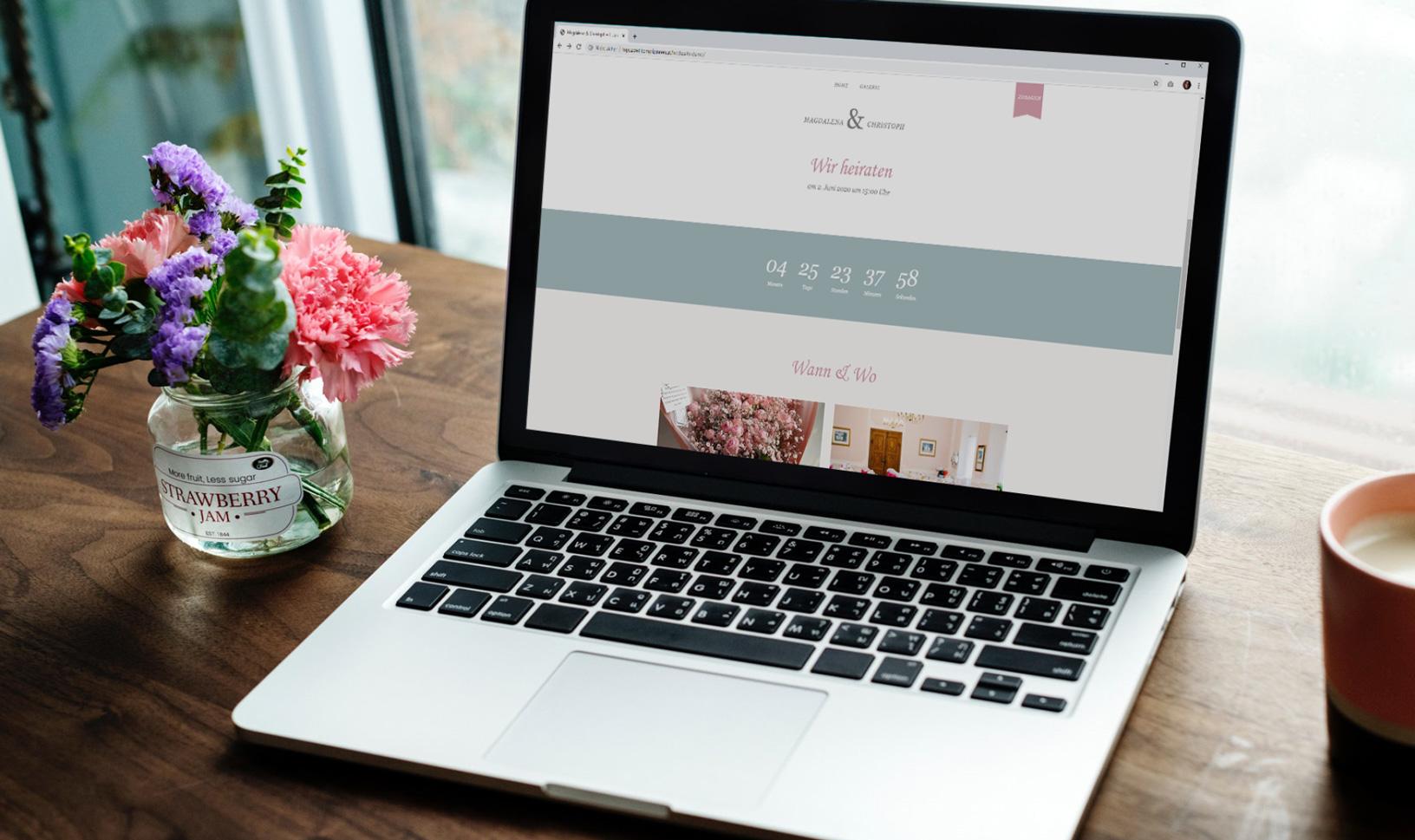 WordPress Webseite für Hochzeiten