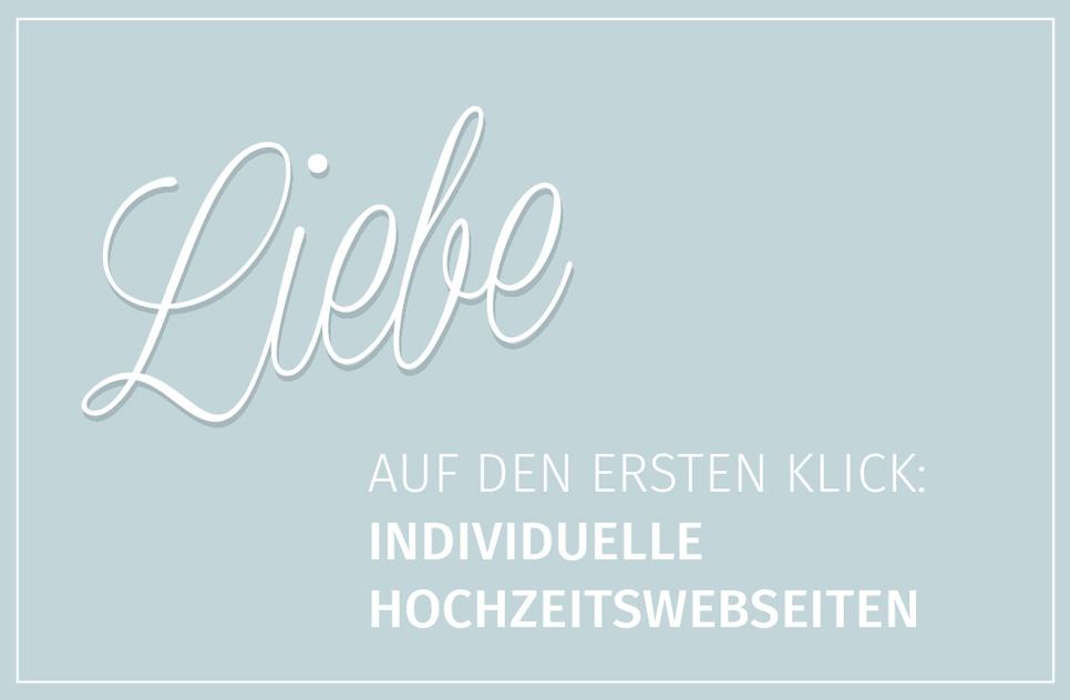 individuelle Hochzeitswebseiten - Liebe auf den ersten Klick