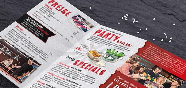 Grafikdesign Zickzack-Falz Folder