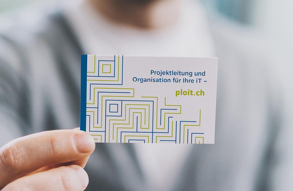 Design von Business-Visitenkarten für PloiT
