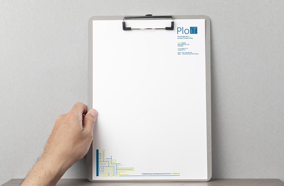 Gestaltung von Geschäftspapieren und Briefpapier