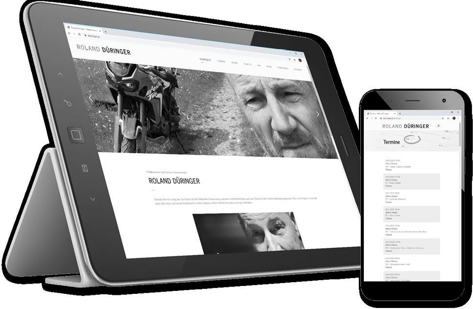 Webentwicklung für Roland Düringer auf WordPress Basis