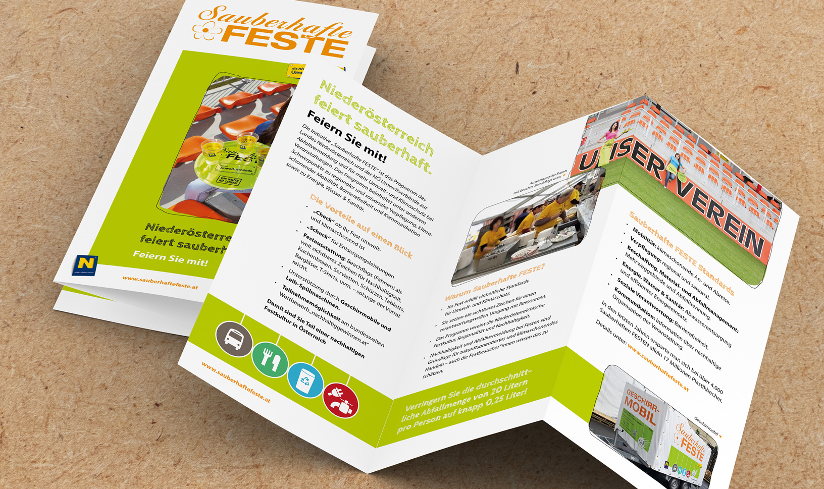 "Folder-Design für ""Sauberhafte Feste"""