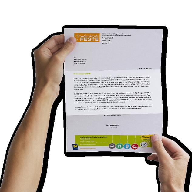 Design einer Briefpapier-Vorlage.