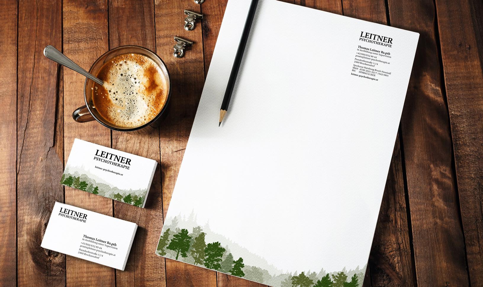 business papers und Corporate Design für Psychotherapie Leitner