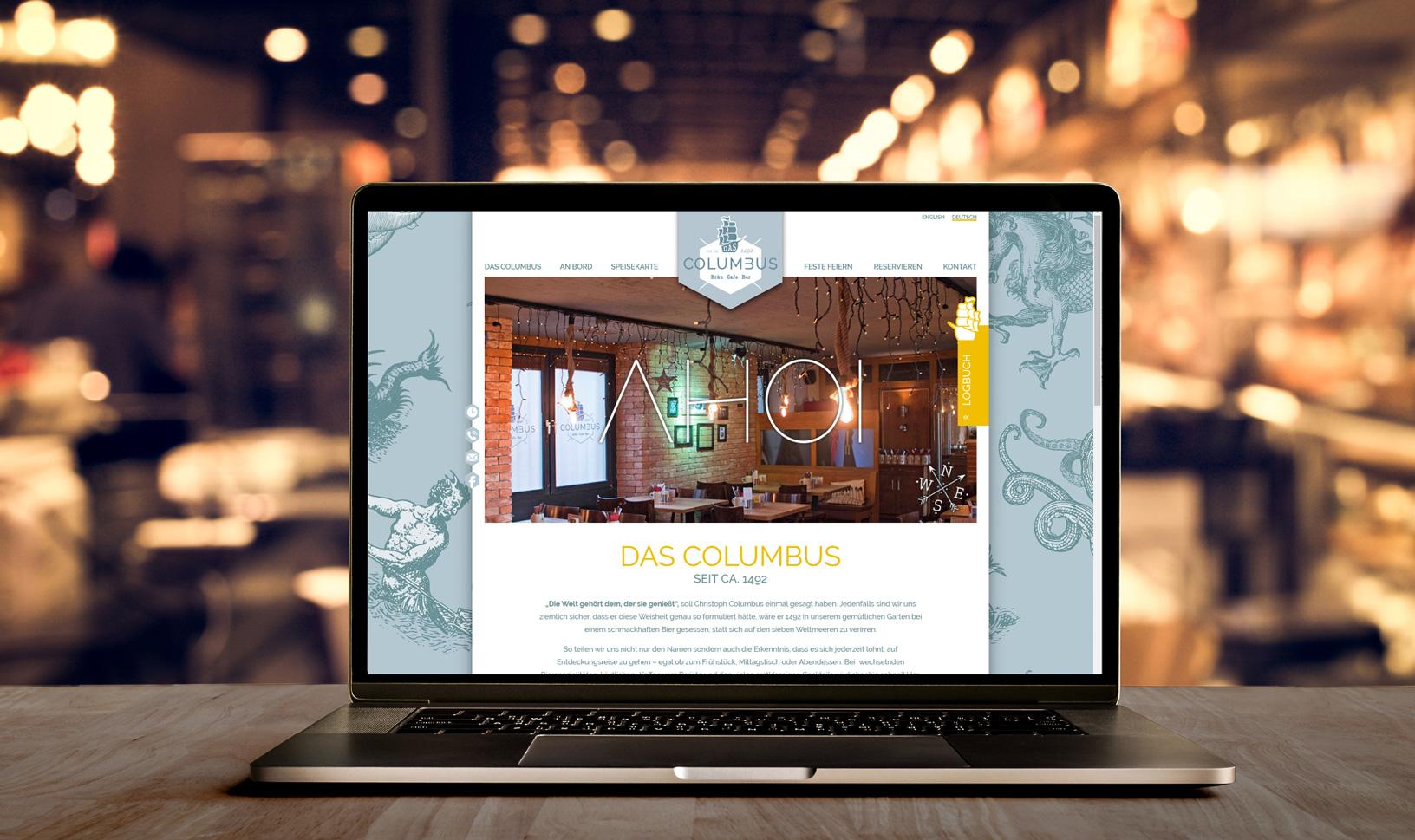 WordPress Webseite für das Columbus - individuelles Design und Programmierung
