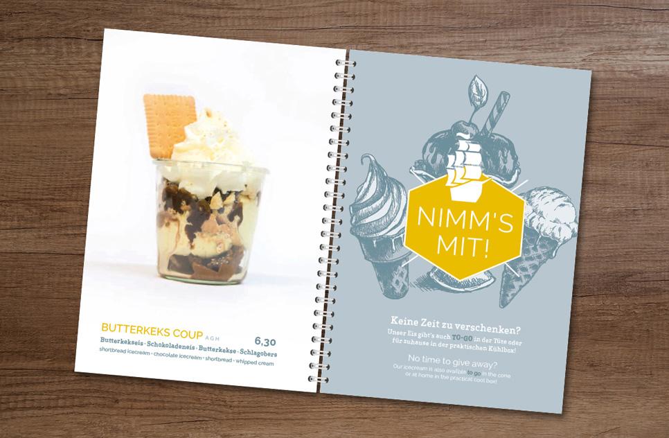 Grafik-Design für Speisekarten